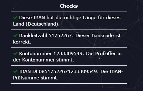 iban valid check - check-iban.com