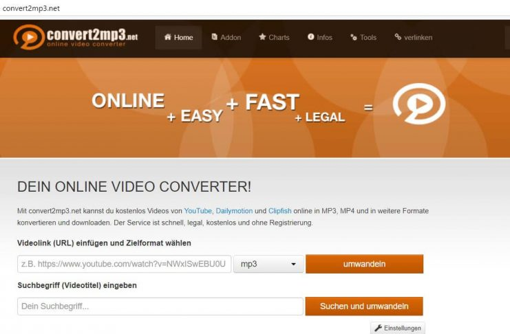 Quelle: www.convert2mp3.net