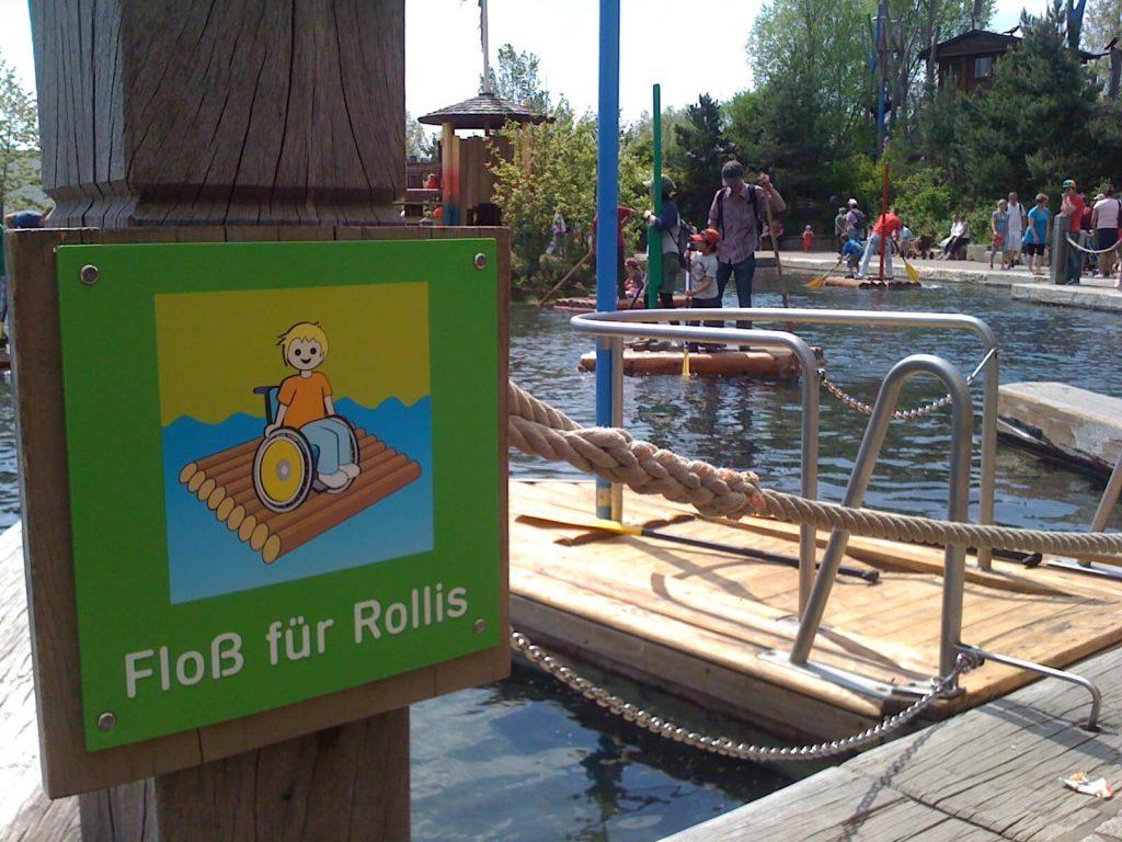 Rollstuhlgerechte Freizeitparks Playmobilland