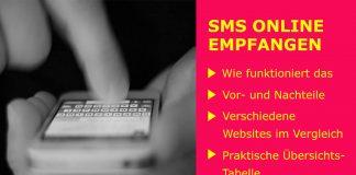 SMS online empfangen